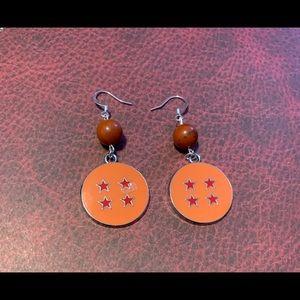3/$30 Red Jasper Dragon Ball Z Earrings